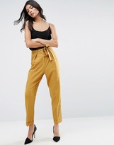 Asos Woven Peg Pants with OBI Tie