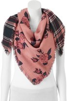 Candies Candie's® Rose & Plaid Reversible Triangle Scarf