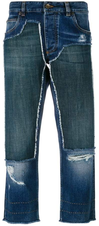 Dolce & Gabbana cropped patch jeans