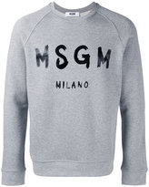 MSGM logo print sweatshirt - men - Cotton/Viscose - XL