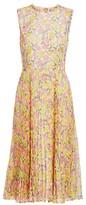 Jason Wu Collection Floral Plisse Chiffon Midi Dress