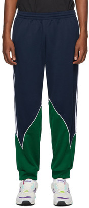 adidas Navy and Green Trefoil Abstract Sweatpants