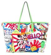Moschino Power Puff Canvas Tote