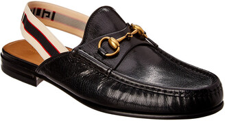 Gucci Horsebit Leather Slingback Loafer