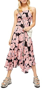 Free People Floral Print Handkerchief Hem Dress