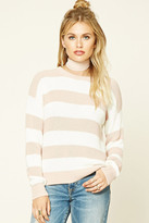Forever 21 FOREVER 21+ Contemporary Striped Sweater