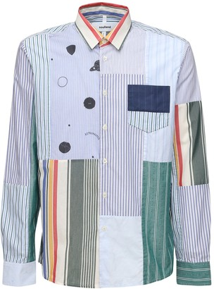 Soulland Upcycled Patchwork Cotton Shirt