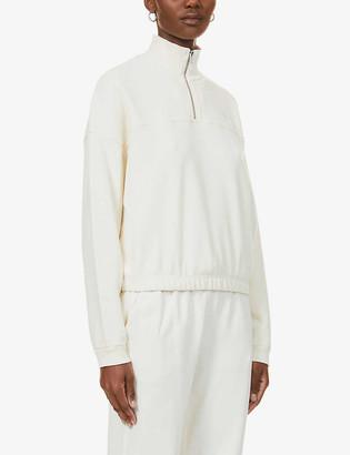 Levi's Pom Quarter Zip branded cotton-jersey sweatshirt