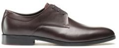 HUGO BOSS Derby shoes in polished leather with signature details