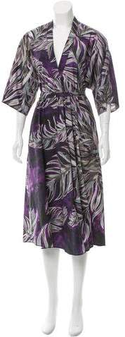Tome Floral Print Belted Dress w/ Tags