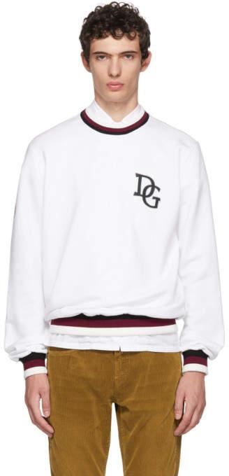 Dolce & Gabbana White Logo Sweatshirt