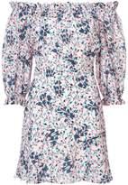 Saloni off-the-shoulder mini dress