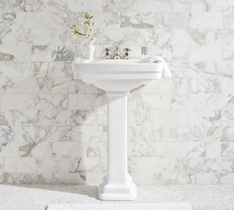 "Pottery Barn Saif 26"" Ceramic Single Sink Pedestal"