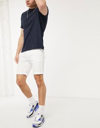 Jack and Jones Intelligence 5 pocket shorts in white