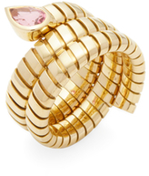 Bulgari Vintage 18K Yellow Gold & Pink Tourmaline Serpenti Ring