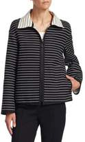 Akris Punto Reversible Striped Jacket