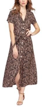 Black Tape Animal-Print Maxi Dress