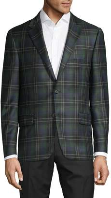 Hickey Freeman Regular-Fit Plaid Wool & Cashmere-Blend Sportcoat
