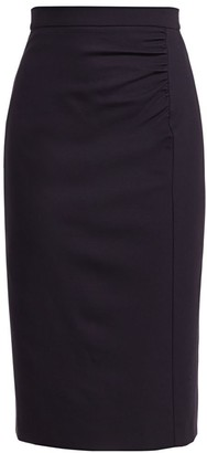 Escada Randuxe Ruched Pencil Skirt
