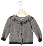 Bonpoint Girls' Intarsia Wool Cardigan