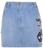 Kenzo Denim skirt with appliqué