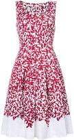 Oscar de la Renta floral print dress - women - Cotton/Spandex/Elastane - 4