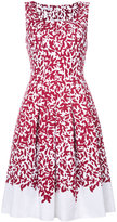 Oscar de la Renta floral print dress - women - Cotton/Spandex/Elastane - 6