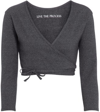 Live The Process Zen wrap cardigan