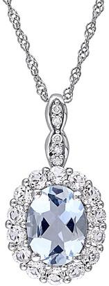 Rina Limor Fine Jewelry 14K 1.66 Ct. Tw. Diamond & Gemstone Pendant Necklace