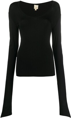 Gianfranco Ferré Pre-Owned 1990s Elongated Sleeved Blouse