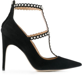 Sergio Rossi Embellished Studded Pumps