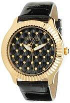 Invicta Women's Angel Leather Band Steel Case Quartz Analog Watch 22563
