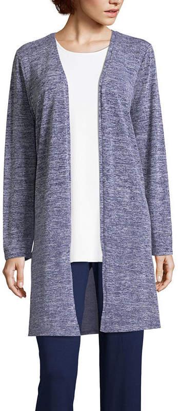 Liz Claiborne Womens Long Sleeve Cardigan-Tall