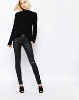 Vero Moda Busted Knee Coated Jean