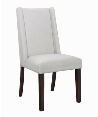 Rosdorf Park Leer Upholstered Dining Chair Color: Beige