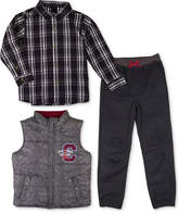 Nannette 3-Pc. Shirt, Vest and Pants Set, Toddler Boys