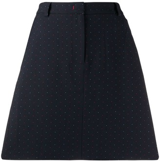 Tommy Hilfiger dotted jacquard A-line skirt