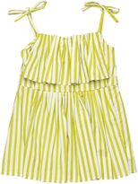 Marni Junior Striped Cotton Sateen Top