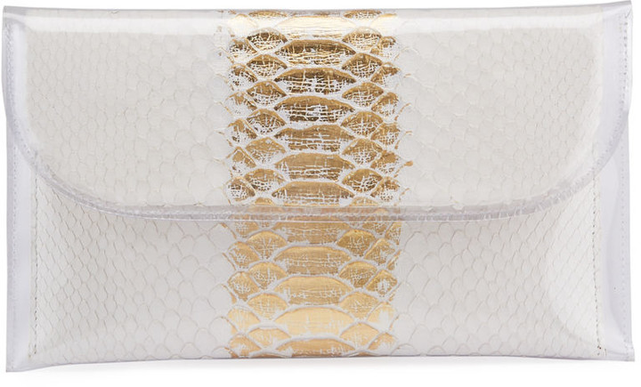 Nancy Gonzalez PVC Envelope Clutch Bag