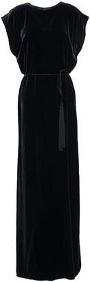 Nili Lotan Lillian Belted Velvet Maxi Dress