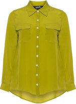 navabi Plus Size Dipped hem silk blouse