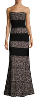 Herve Leger Embroidered Scallop Gown