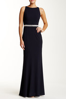 Minuet Embellished Trim Long Dress