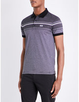 Hugo Boss Slim-fit Striped Cotton-jersey Polo Shirt