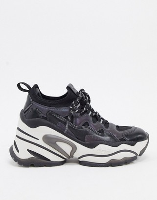Ash Bang chunky wedged trainers in black