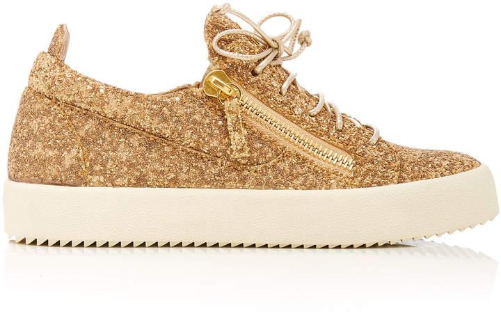 Giuseppe Zanotti Maylondon Glittered Leather Sneakers