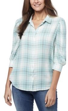 Nine West Women's Romi Pleated Sleeve Shirt