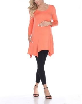 White Mark Maternity Kayla Tunic Top