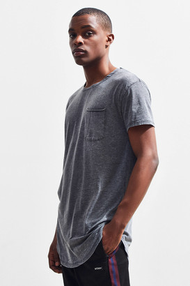 Urban Outfitters Burnout Scoop Neck Curved Hem Tee