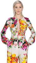 Blumarine Floral Printed Stretch Cady Shirt